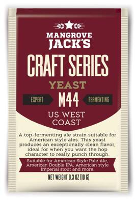 Sušené pivné kvasnice US West Coast M44 - Mangrove Jack's Craft Series - 10 g