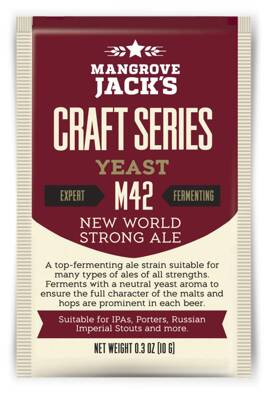 Sušené pivné kvasnice New World Strong Ale M42 - Mangrove Jack's Craft Series - 10 g